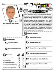 English Worksheet: RC Series Famous People Edition_04 George Clooney (Fully Editable) (RE-UP)