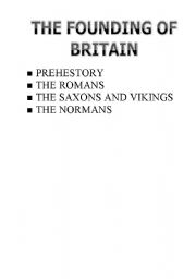 English Worksheets: the founding of britain