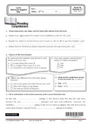 English Worksheets: devoir de syhthese mars 2012