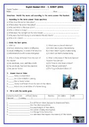 English Worksheet: I Robot