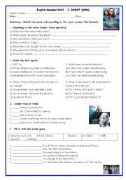 English Worksheet: I Robot