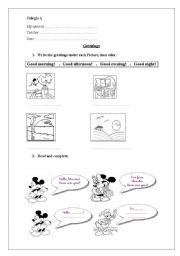 English Worksheets: greetings