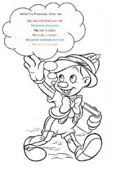 pinocchio coloring and clothes
