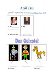 English Worksheet: Spanish Language day and International day of the book