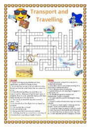 Travelling and Transport. Crossword