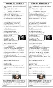 English Worksheet: Someone like you