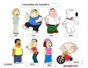 English Worksheet: Comparatives and Superlative Board game
