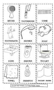Ordinaire English Worksheet: Some Parts Of The Bathroom