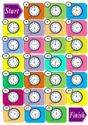 English Worksheets: *** The Time Boardgame ***