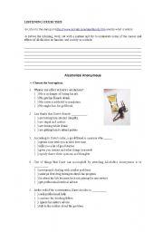 English Worksheets: Alcoholics Anonymous