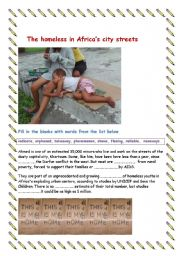 Homeless children in African cities