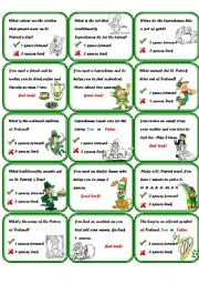 English Worksheet: Boargame St. Patrick´s day  (part 2/2)
