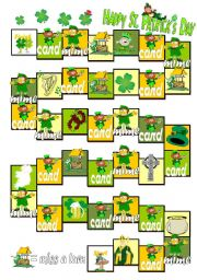 English Worksheet: Boargame St. Patrick´s day  (part 1/2)