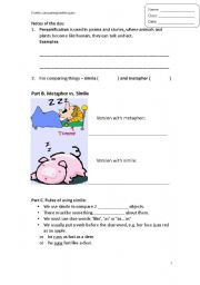 Worksheet Personification Worksheets english teaching worksheets personification similie metaphor short poem writing