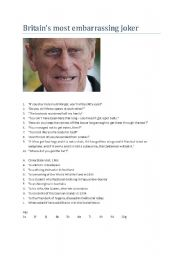 English Worksheets: Prince Philip´s Gaffes