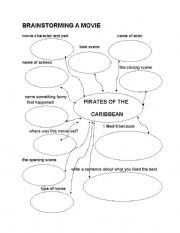 English Worksheet: brainstorming a movie