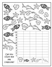 English Worksheets: Sea Creatures Data Handlang Graph