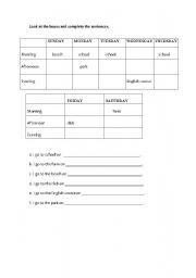English Worksheets: periods of the day