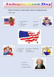 English Worksheet: Independence day - 4th July