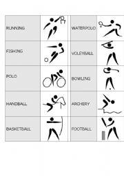 English teaching worksheets: Domino
