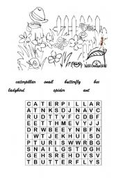 English Worksheet: Wordsearch-little Bugs