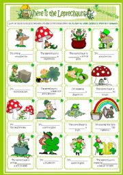 English Worksheets: Peprositions St. Patrick´s day