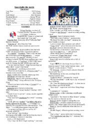 English Worksheets: Spaceballs: the movie- character list and vocabulary