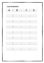 English Worksheets: Copy Alphabets