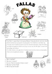 English Worksheets: FALLAS in VALENCIA