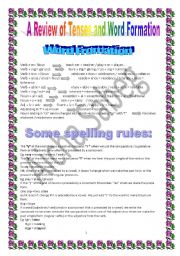 English Worksheets: Word Fromation