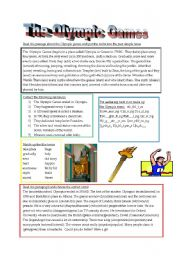 Olympics 2012 Study Sheets Printable Worksheets | Graffiti Graffiti