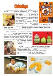English Worksheets: Chindogu, part 1