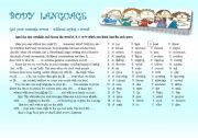 English Worksheet: Body Language; Rise and shine