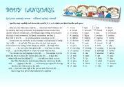 English Worksheets: Body Language; Rise and shine
