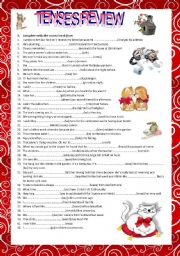 English Worksheet: Tenses review (B2)