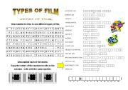 English Worksheets: types of film (+short key)