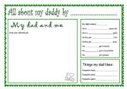 English Worksheets: ABOUT MY DADDY