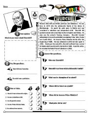 English Worksheet: RC Series Famous People Edition_16 Winston Churchill (Fully Editable)