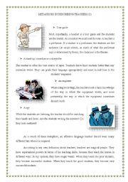 English Worksheets: teachers� roles 2