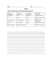 English Worksheets: Writing- Sam�s routine