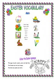 English Worksheet: It�s Easter time! Easter vocabulary