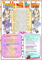 English Worksheets: Trouble with twins