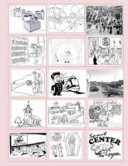 English Worksheets: Memory Game!