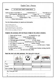 English Worksheet: Final test for adults