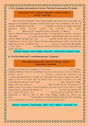 English Worksheets: Language tasks for 4th year Tunisian students (with keys) ( part 1 )
