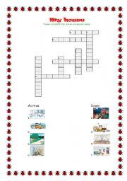 English Worksheet: My house- I love crosswords!!!