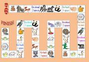 English Worksheet: Board game ANIMALS
