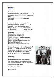 English Worksheets: Maroon 5 - Runaway
