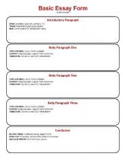 essay worksheets