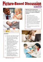 English Worksheet: Picture-based discussion Elementary - (11) Health